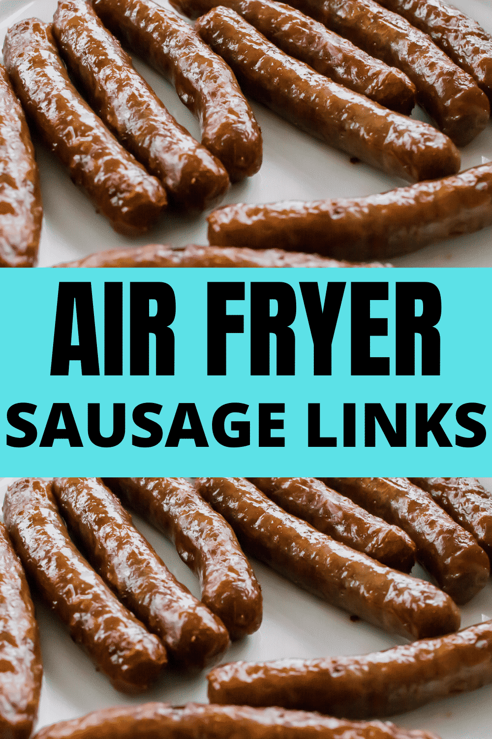 Salty and sweet, browned and slightly crispy, air fryer sausage links will be a favorite addition to your breakfast table. Fresh breakfast sausages are ready in less than 10 minutes. #sausage #airfryer #breakfast via @vegetarianmamma