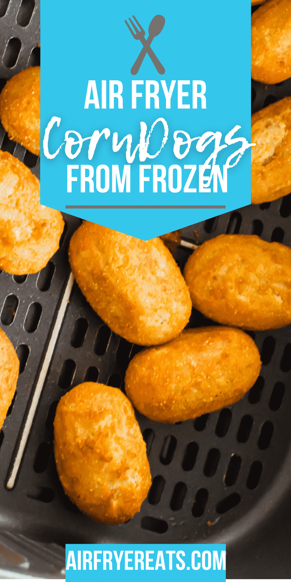 Air Fryer mini corn dogs are quick and easy appetizer to make. Serve these at a party or use them for a kid friendly dinner or lunch option. #air fryer #snacks #fairfood via @vegetarianmamma