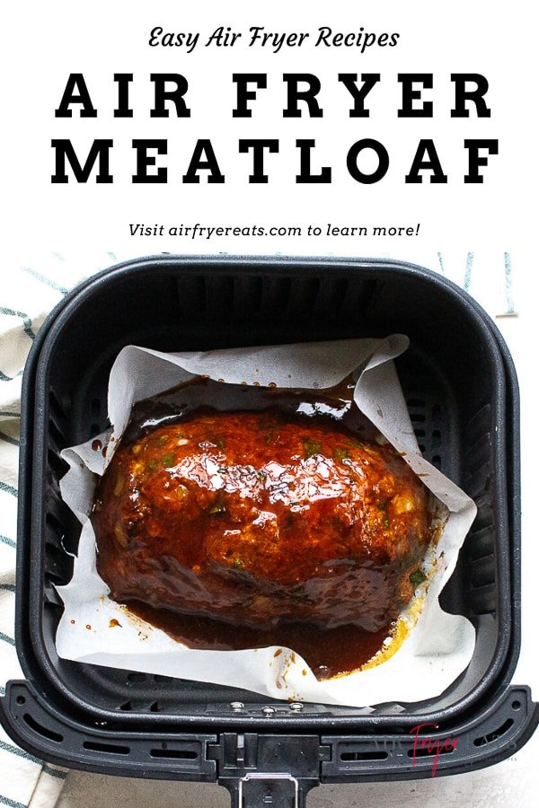 Air Fryer Meatloaf is the perfect combination of flavors! Savory spices and a sweet glaze make for a meatloaf recipe that's done in less than 40 minutes! #meatloaf #airfryermeatloaf #quickmeatloaf #meatloafrecipes via @vegetarianmamma