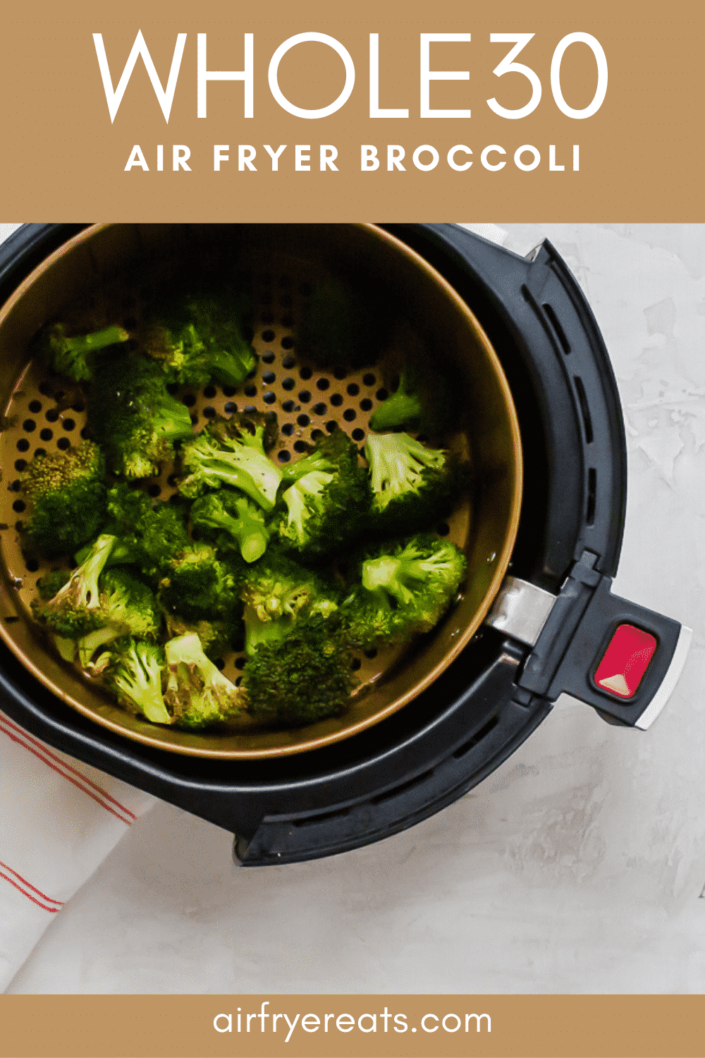 Looking for a great way to add some pizzazz to broccoli? Try air frying it! Air Fryer Broccoli is the perfect combination of crispy and tender, and you won't believe how easy it is to make! #broccoli #airfryerbroccoli #airfriedbroccoli via @vegetarianmamma