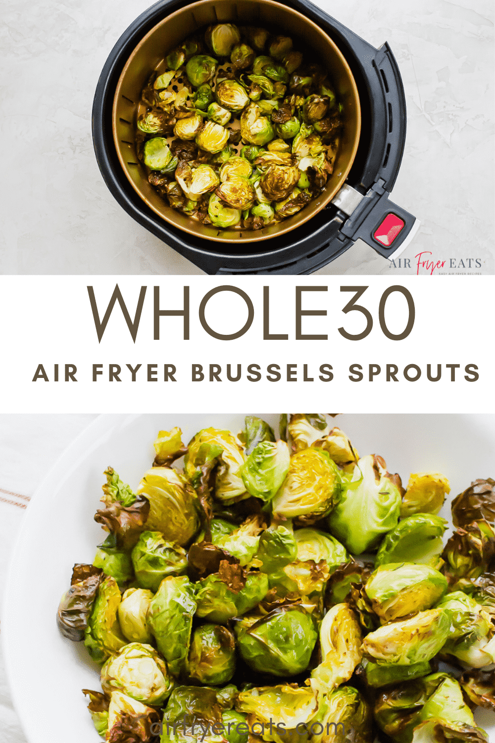 Air Fryer Brussel Sprouts are not only nutritious, but incredibly flavorful! In less than 15 minutes your air fryer gives these sprouts the most delectable crispy crunch on the outside with a roasted, caramelized flavor that is out of this world! #brusselsprouts #sprouts #airfryerbrusselsprouts #airfryersprouts via @vegetarianmamma