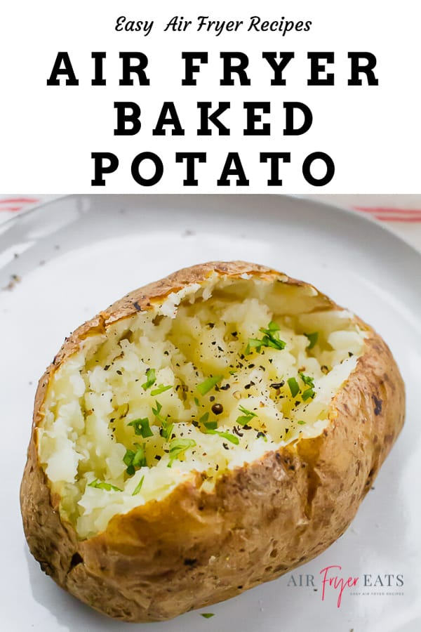 Why wait forever for your oven to bake potatoes when your air fryer can do it in half the time? With just one bite of a succulent Air Fryer Baked Potato, you'll never go back to the old way again! #bakedpotato #airfryerbakedpotato #potatorecipes via @vegetarianmamma
