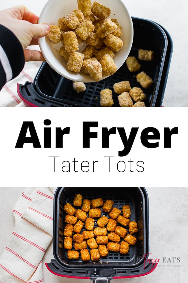 Classic, crispy tater tots come out perfect in the Air Fryer every time! With just one simple ingredient and 20 minutes, you'll be ready to dig right into this nostalgic side dish. via @vegetarianmamma