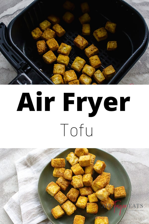 Crispy on the outside and fluffy on the inside, Air Fryer Tofu is melt-in-your-mouth delicious! via @vegetarianmamma