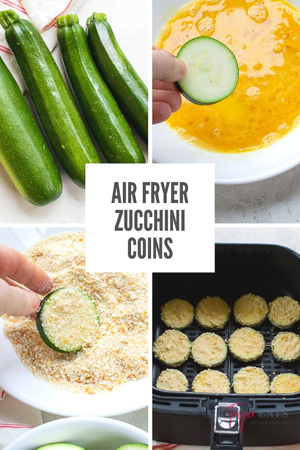 If you're looking for an appetizer that is both satisfying and healthy, try these Air Fryer Zucchini Chips! You will love dipping these crispy coins into your favorite creamy sauce! via @vegetarianmamma