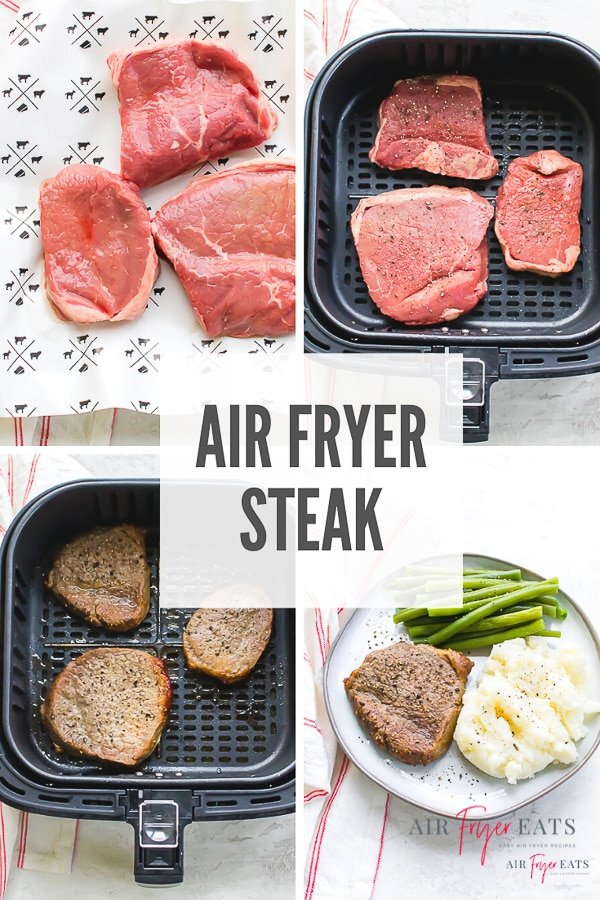 What's more satisfying than a perfectly cooked steak made right in your own kitchen? You'll go crazy for this easy 10 minute air fryer steak recipe!  via @vegetarianmamma