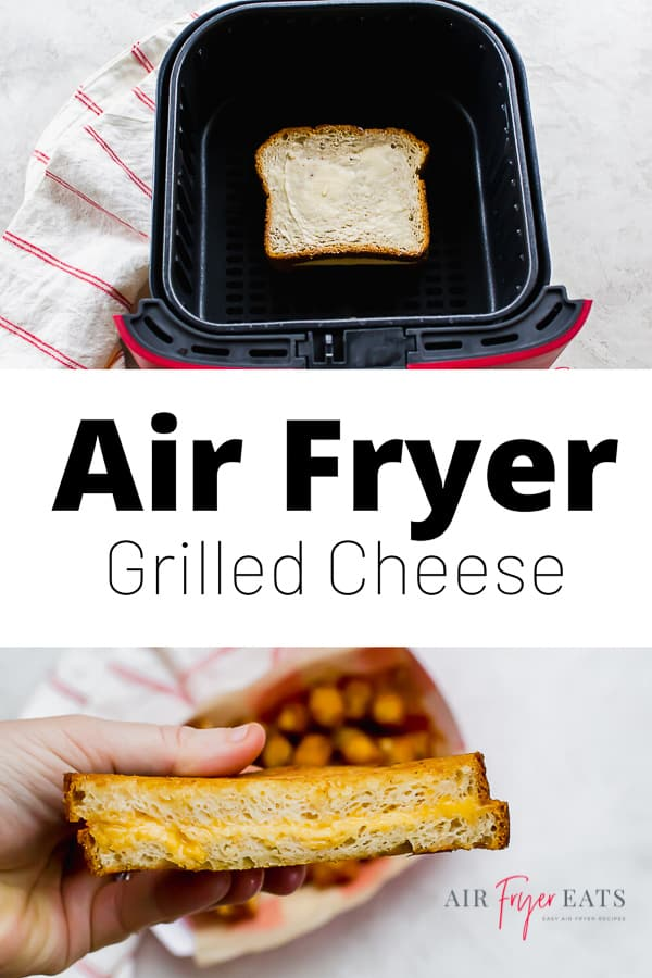 Is there anything more nostalgic than a grilled cheese sandwich? With this air fryer recipe, you can make perfectly toasted, buttery grilled cheese every single time! via @vegetarianmamma