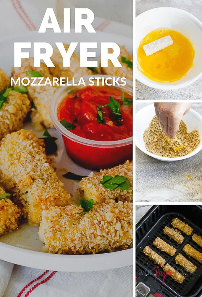 how to make air fryer mozzarella sticks