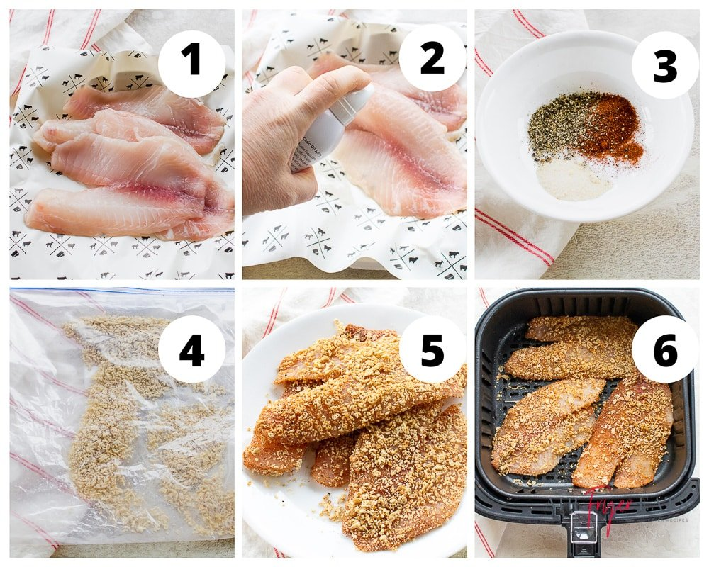 steps to make air fryer fish