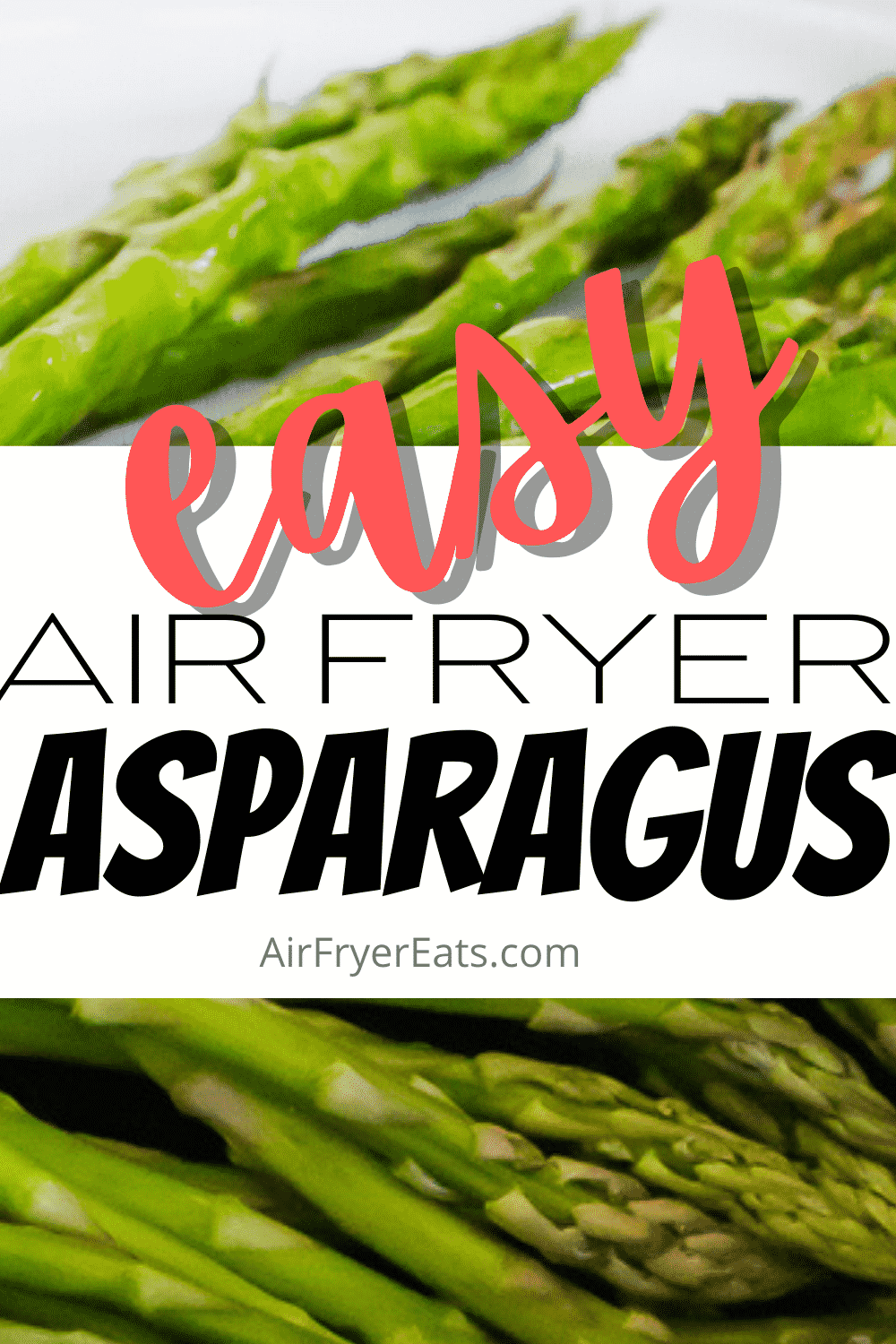 This simple yet delicious Air Fryer Asparagus recipe takes three ingredients from prep time to dinner time in 10 minutes. #airfryerasparagus #roastedasparagus via @vegetarianmamma