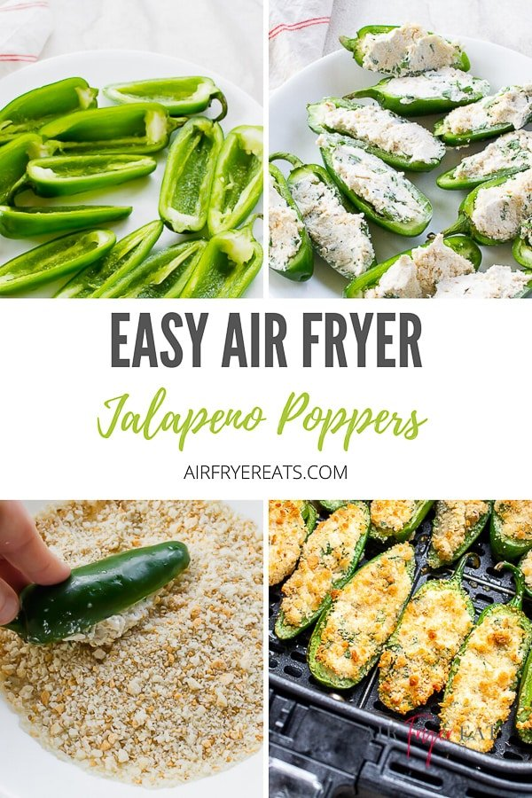 Air Fryer Jalapeno Poppers are a delicious game day snack that can be prepared in under 15 minutes! These air fried poppers will quickly become your favorite snack option! #airfryerpoppers #jalapenopoppers #airfryer via @vegetarianmamma