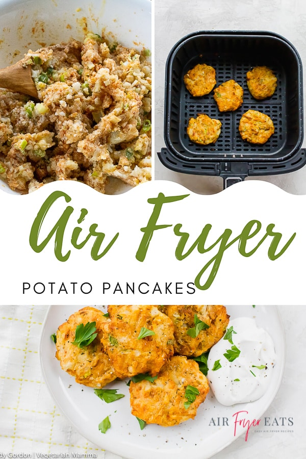 how to make air fryer potato pancakes pinterest