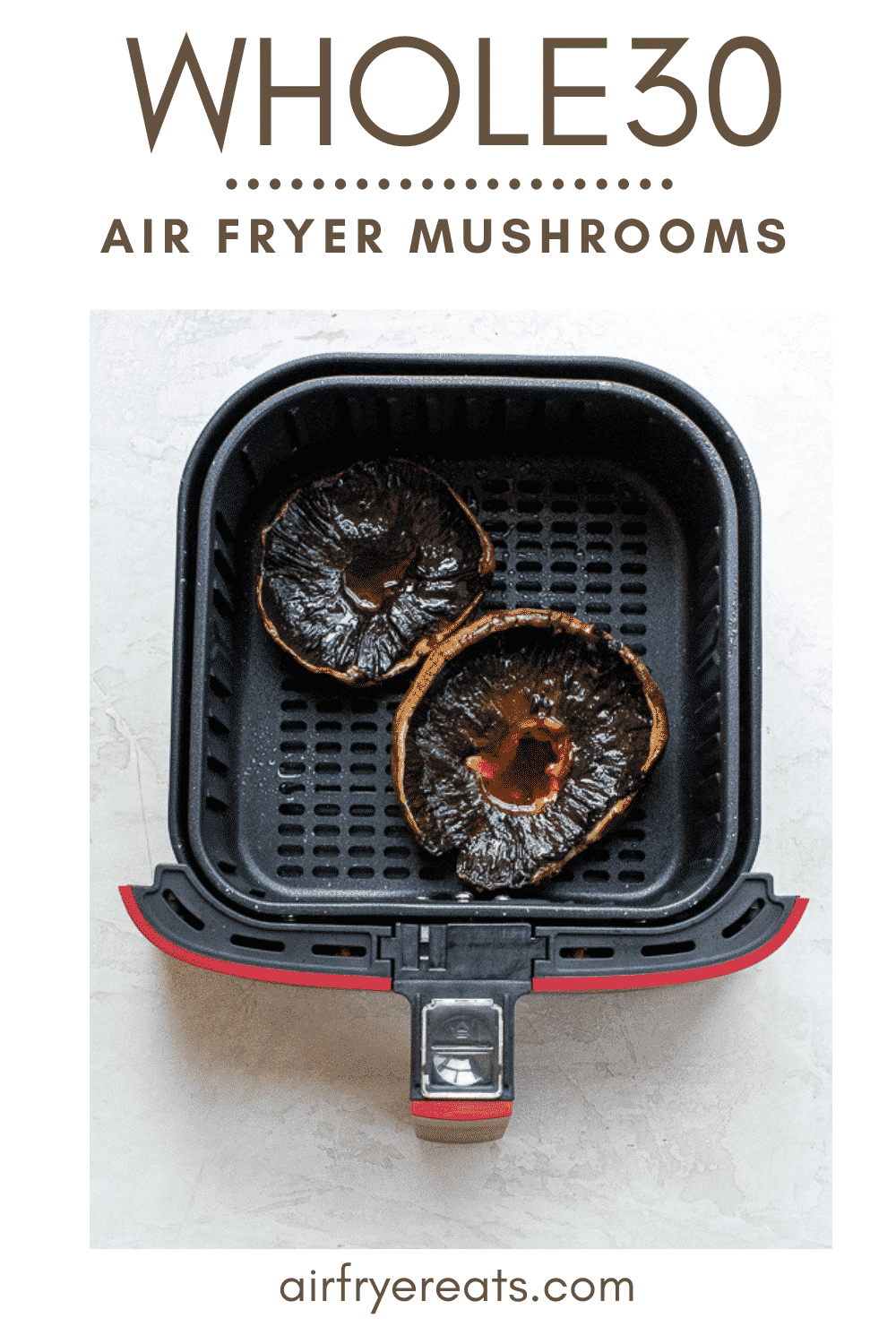 These Air Fryer Mushrooms are a great meatless Monday dish with tons of flavor and protein! Slice and serve for a main dish in less than 20 minutes! #airfryermushrooms #portobellomushrooms #mushroomcaps via @vegetarianmamma