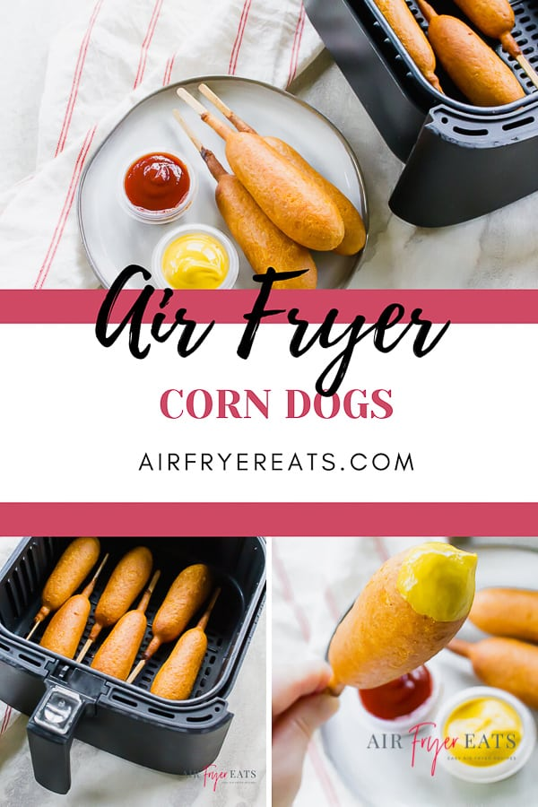 Air Fryer Corn Dogs is a tasty frozen food that you can prepare in your air fryer. In less than 8 minutes, you can have a crispy Air Fried Corn Dog that tastes like it is straight out of the local fair. #airfryercorndogs #corndogs via @vegetarianmamma