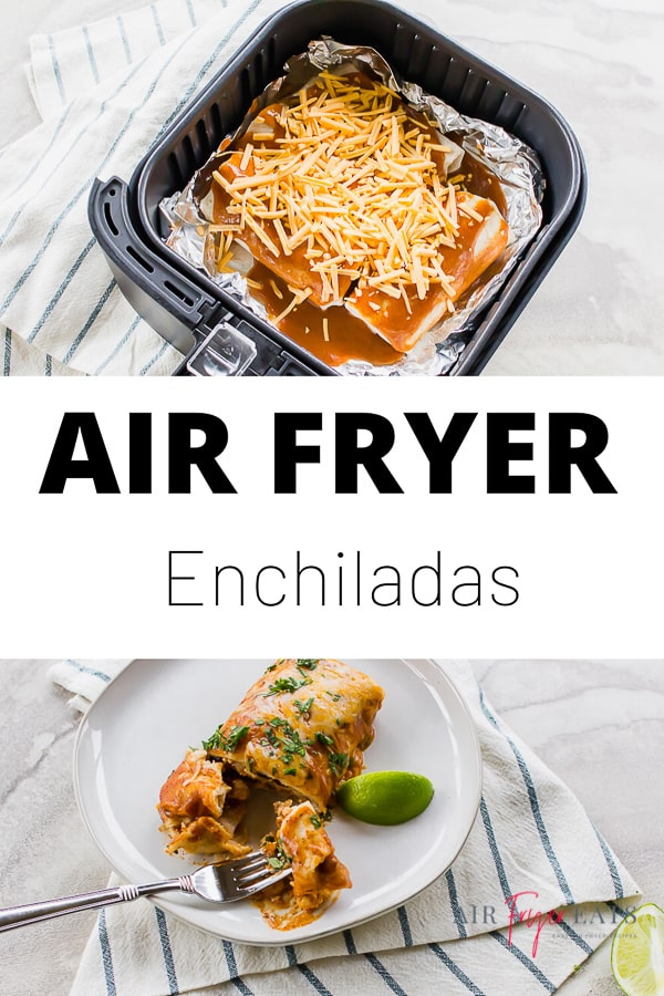 These Air Fryer Enchiladas are a breeze to make in less than half an hour and are packed with flavor! Top with your favorite cheese and enchilada sauce! #airfryerenchiladas #enchiladas #homemadeenchiladas via @vegetarianmamma