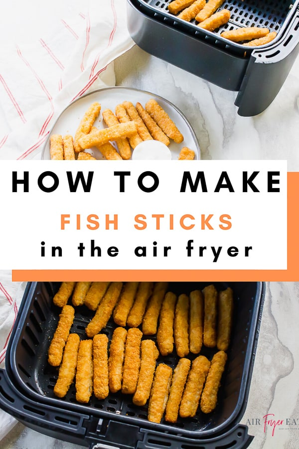 Air Fryer Fish Sticks are a crunchy air fryer food that you are going to love. Cooking frozen fish sticks in the air fryer couldn't be any easier! #airfryerfish #airfryerfishsticks #frozenfishsticks via @vegetarianmamma