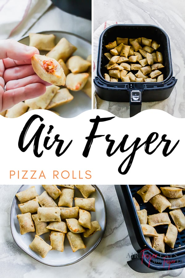 Air Fryer Pizza Rolls will make snackers rejoice! Cooking pizza rolls in the air fryer is the ONLY way to go! You can expect your crunchy pizza rolls to be done in less than 8 minutes. #pizzarollsinairfryer #airfryerpizzarolls #totinospizzarolls via @vegetarianmamma