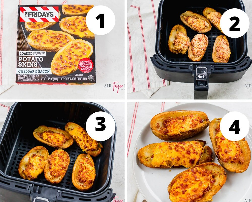 How to cook frozen potato skins in the air fryer collage