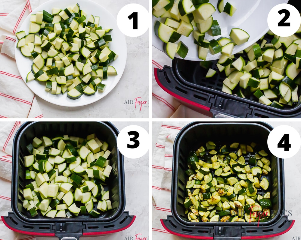 steps to make air fryer zucchini