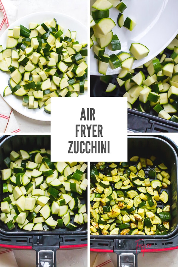 This Air Fryer Zucchini is just one ingredient and is ready in less than 20 minutes with little effort! Add a splash of green to your plate tonight. #airfryerzucchini #vegansides #roastedzucchini via @vegetarianmamma