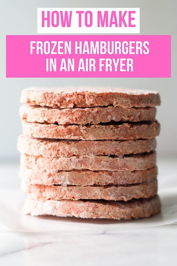Making frozen hamburgers in the air fryer is very easy. The air fryer burgers cook quickly and evenly each and every time. #airfryer #frozenhamburgers #airfryerhamburgers via @vegetarianmamma