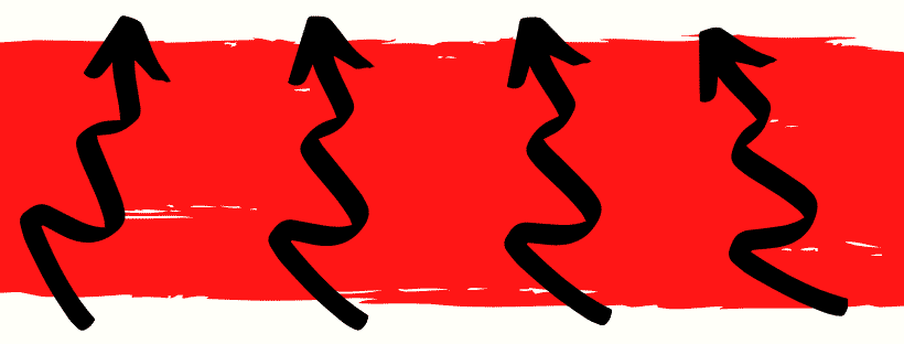 red rectangle with 4 arrows pointing up
