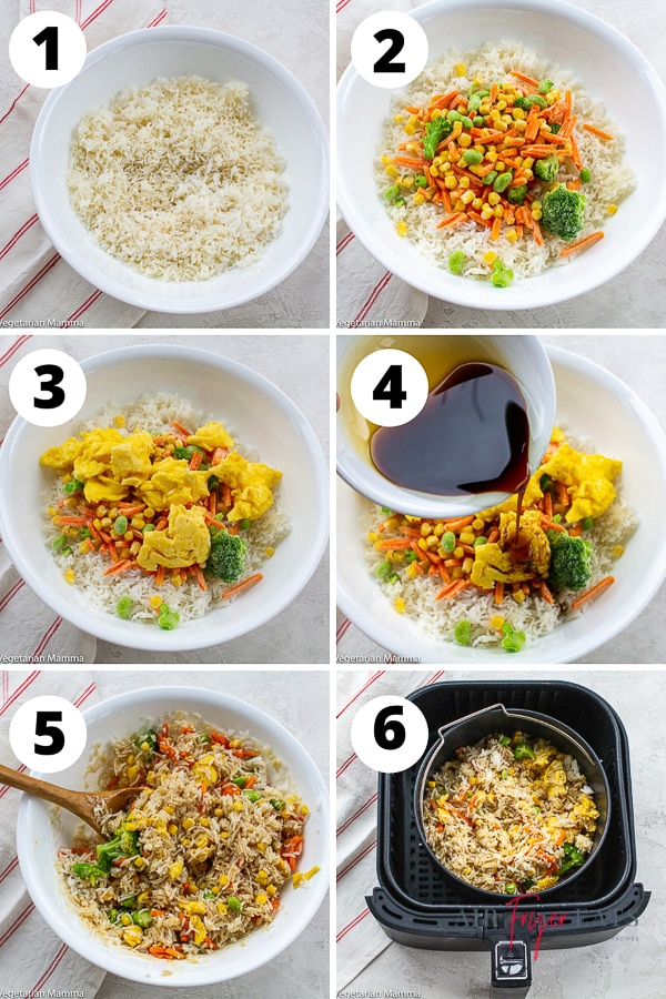 how to make air fryer fried rice