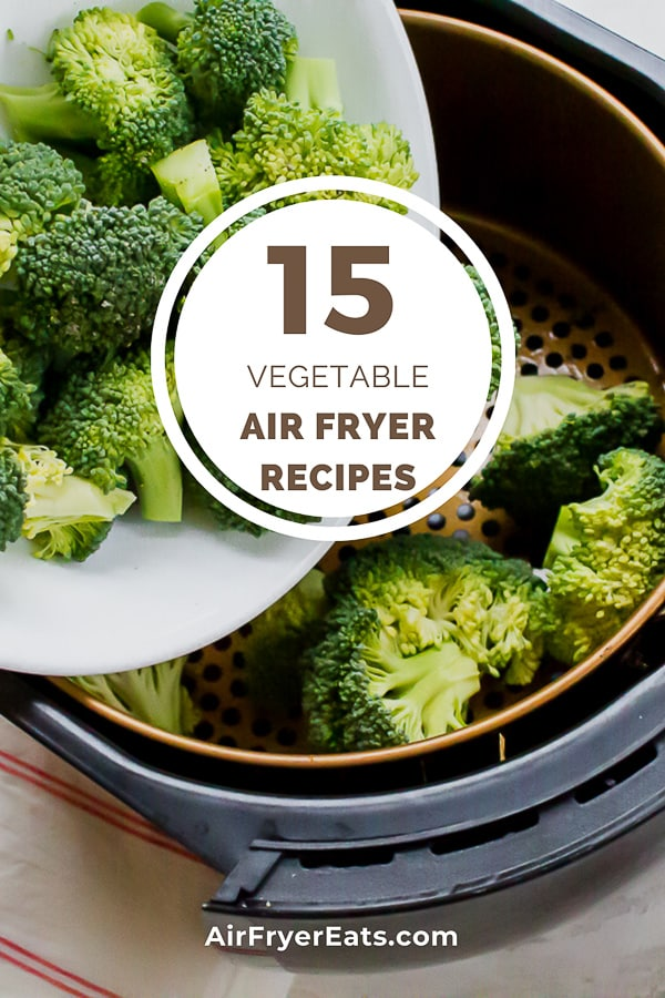 Air Fryer Vegetable Recipes are a great compliment to any main dish course. Making vegetables in an air fryer is simple, quick and delicious. #airfryervegetablerecipes #vegetablesintheairfryer #vegetables #airfryerrecipes via @vegetarianmamma