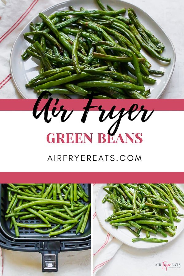 These super simple #AirFryer Green Beans are just two ingredients and four steps! Make dinner in less than half an hour with this #healthy #vegan side dish. via @vegetarianmamma