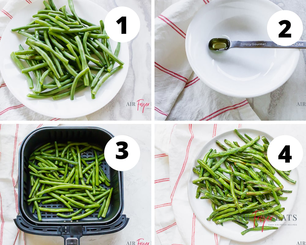 steps to make air fryer green beans