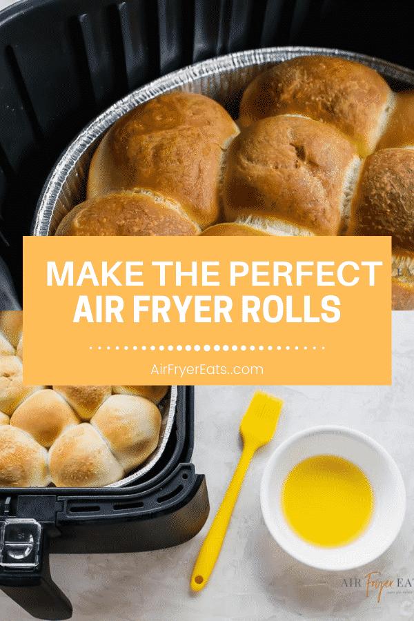 Frozen Rolls in the Air Fryer via @vegetarianmamma