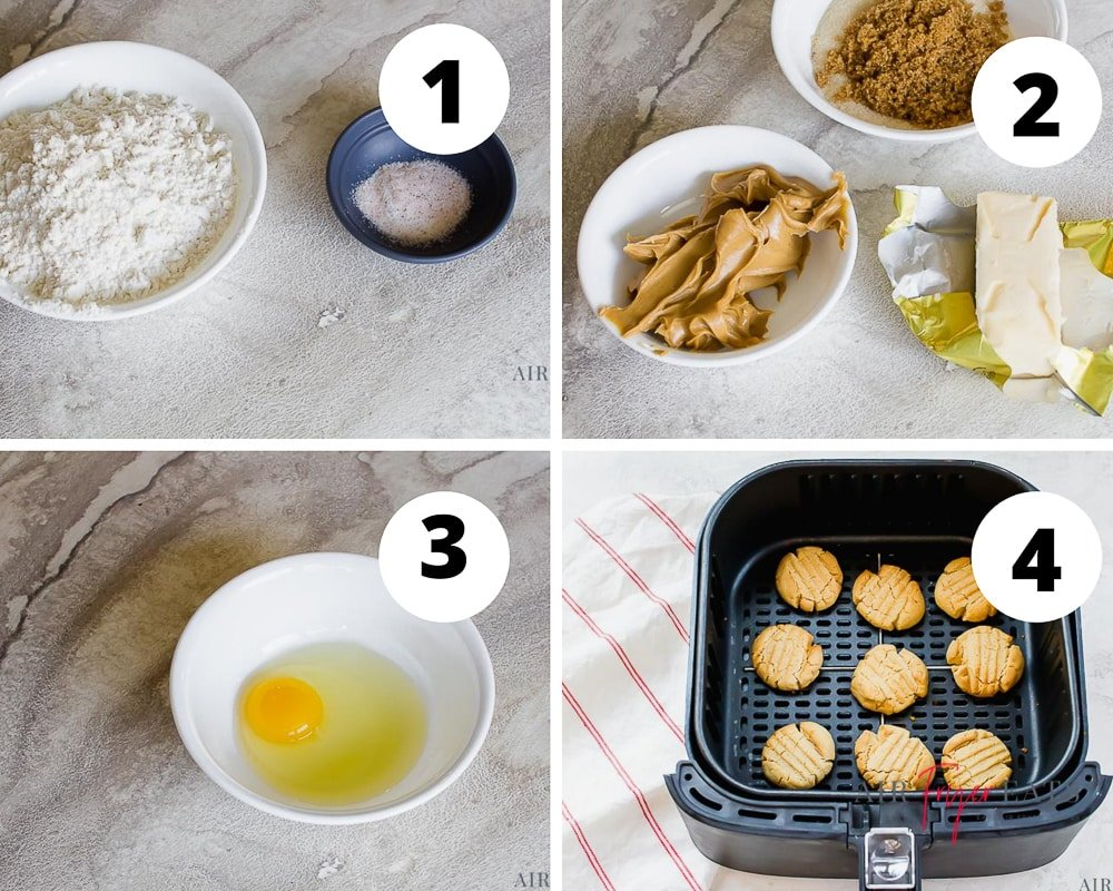 steps to make cookies in the air fryer