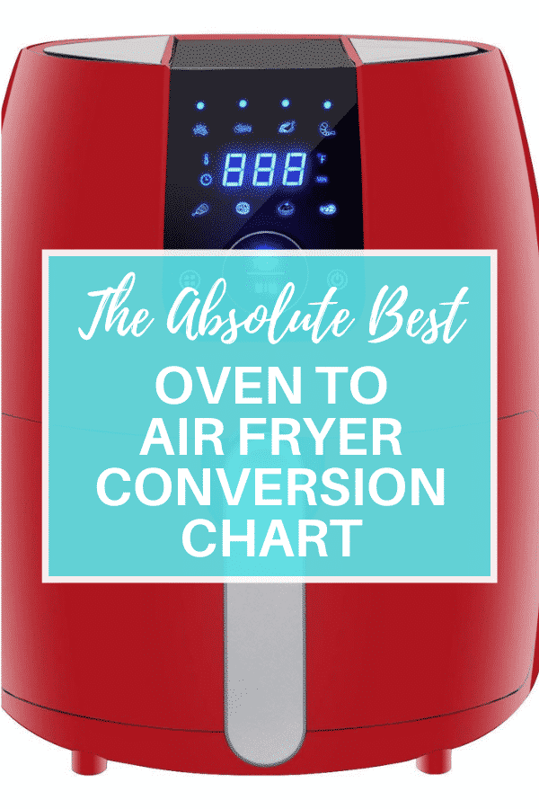 Oven to Air Fryer Conversion chart pin via @vegetarianmamma