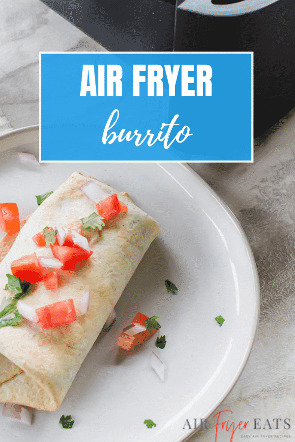 Ever wish you could enjoy your favorite Mexican-style restaurant dishes without having to leave your home? This easy Air Fryer Burrito recipe has you covered! #airfryer #burrito #easymealprep via @vegetarianmamma