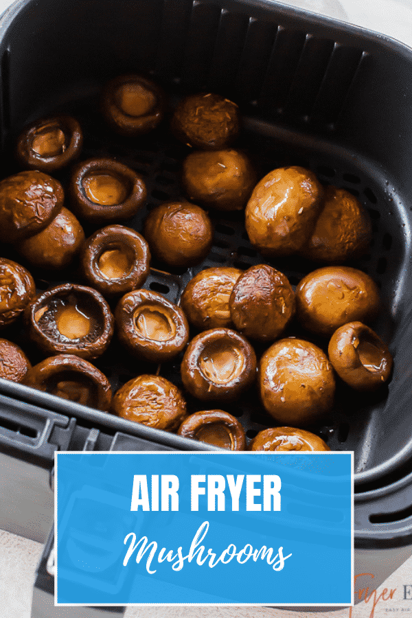 Mushroom caps marinated in a savory balsamic vinegar mixture come out of the air fryer perfectly cooked and irresistibly delicious in just a few minutes. #airfryer #sidedish via @vegetarianmamma