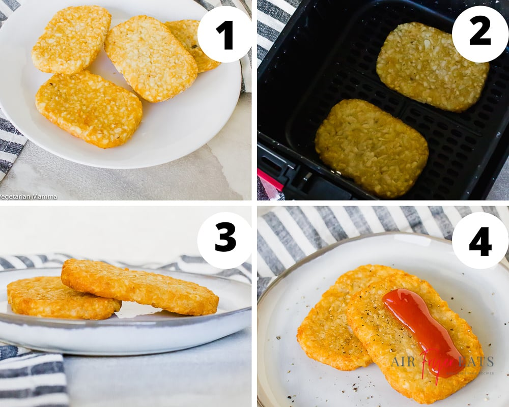 steps to make frozen hash browns in an air fryer