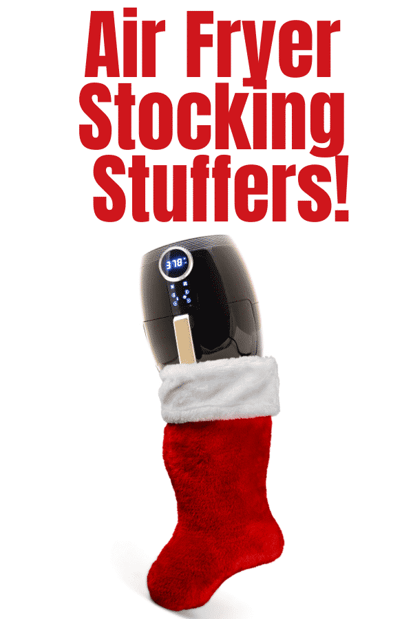 Wondering what to get the air fryer lover in your life? Check out this simple list of air fryer stocking stuffers! #airfryergifts #airfryer #airfryerstockingstuffers via @vegetarianmamma