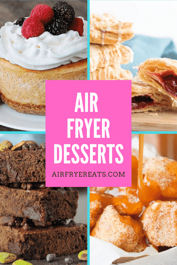 air fryer desserts pin via @vegetarianmamma