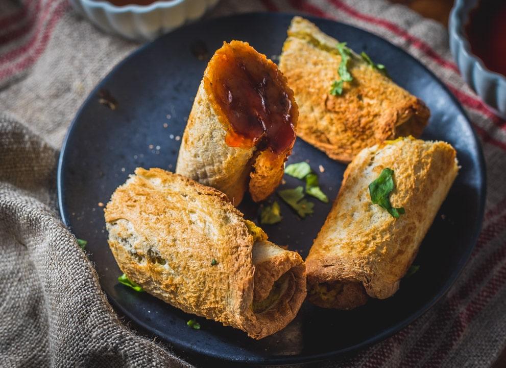 Air Fryer Indian Bread Roll
