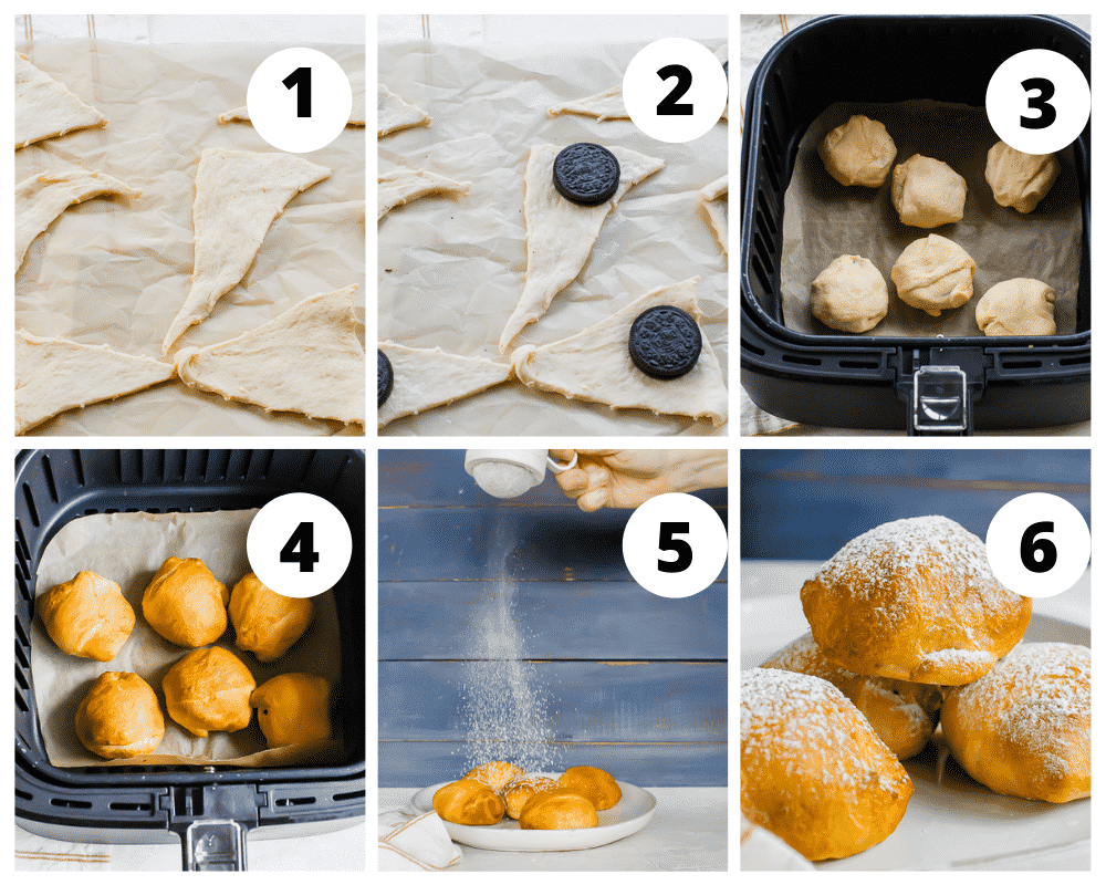 steps to make fried Oreos in the air fryer