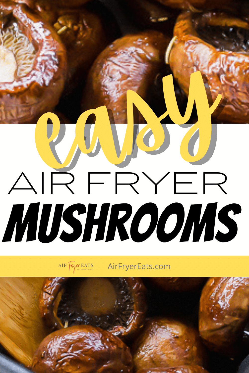Mushroom caps marinated in a savory balsamic vinegar mixture come out of the air fryer perfectly cooked and irresistibly delicious in just a few minutes. Balsamic Air Fryer mushrooms will be your go-to side dish from now on! #airfryer #sidedish via @vegetarianmamma
