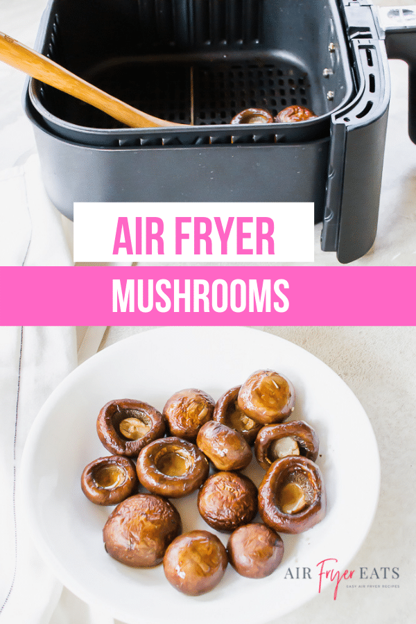 Mushroom caps marinated in a savory balsamic vinegar mixture come out of the air fryer perfectly cooked and irresistibly delicious in just a few minutes.  via @vegetarianmamma