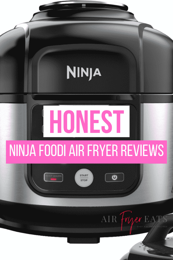 Interested in purchasing a Ninja Foodie? You'll want to read these Ninja Foodie Reviews first. We've compiled loads of Foodie reviews for you to use when making your decision. #ninja #foodi #airfryer via @vegetarianmamma