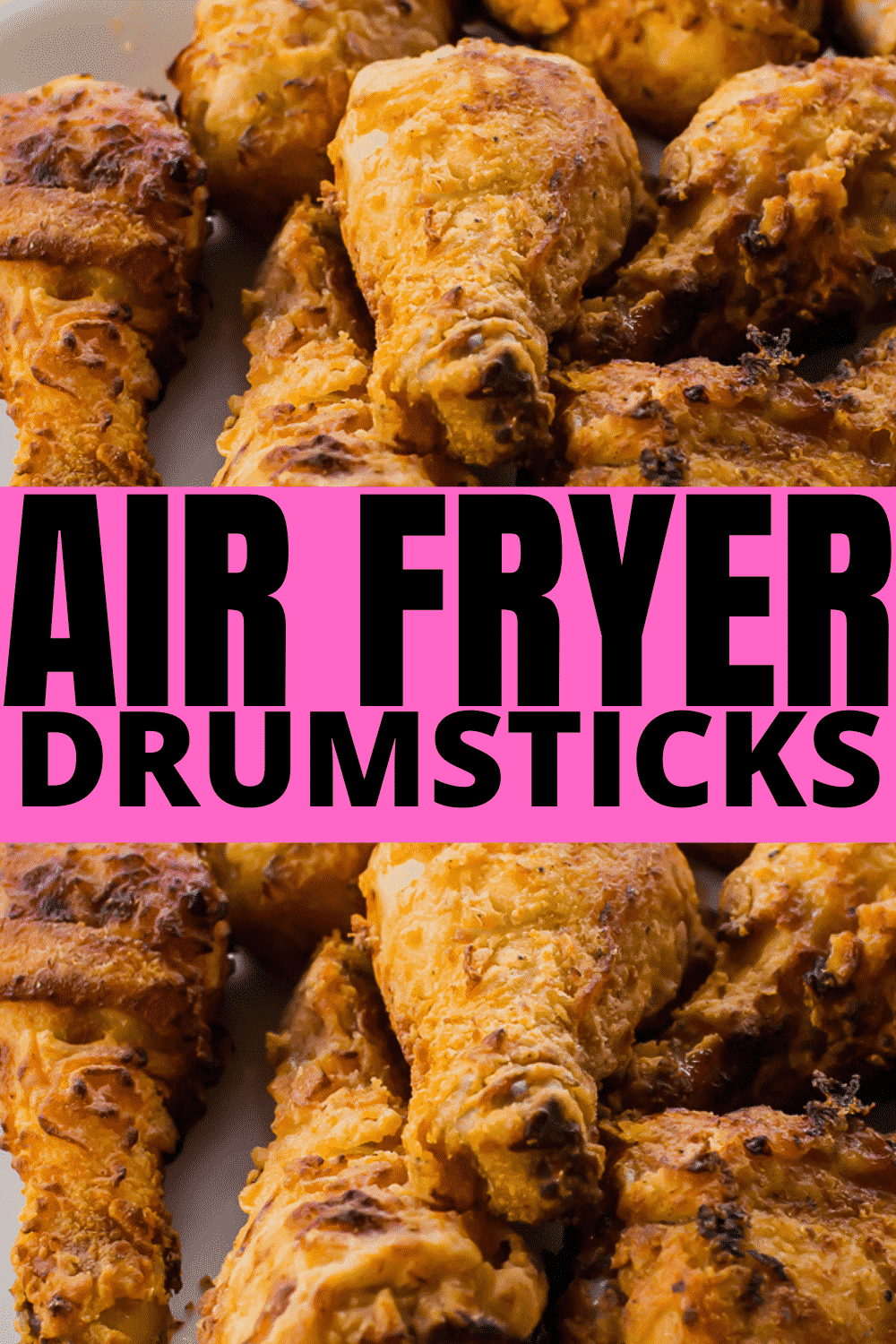 Air Fryer Chicken Drumsticks are a quick budget dinner the family will love! Ditch the oil and make the crispiest fried chicken in the air fryer with a seasoned flour coating. #airfryerdrumsticks #airfryerchicken #airfryerchickendrumsticks via @vegetarianmamma