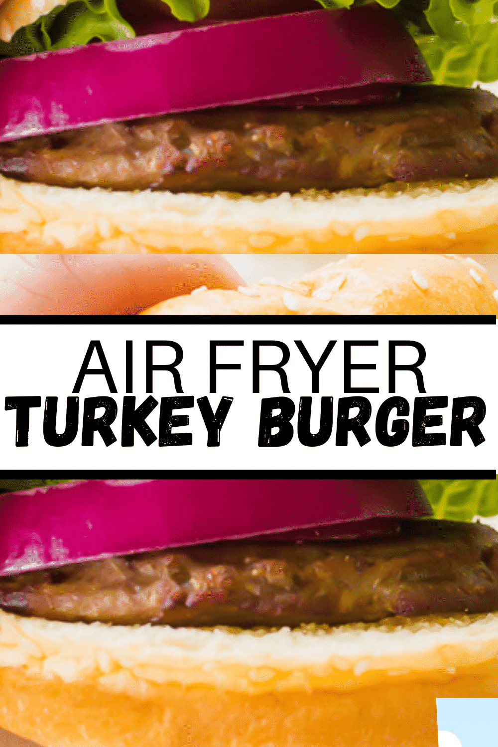 Air Fryer Turkey Burgers are a fast and healthy last-minute dinner! No need to even thaw your frozen turkey burger patties. #frozenturkeyburger #airfryer via @vegetarianmamma
