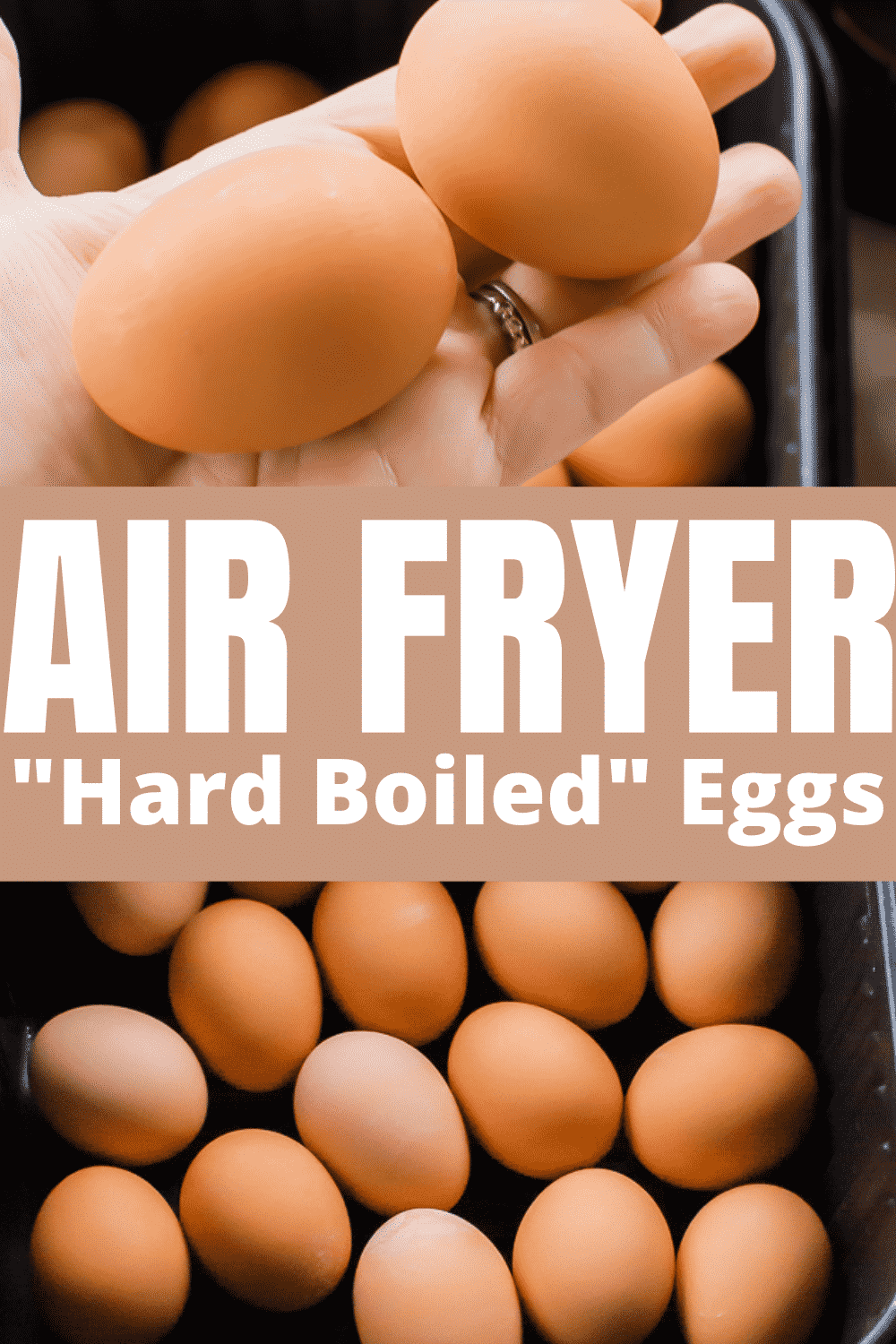 Did you know that you could make hard boiled eggs in the air fryer? Learn how simple it is to make air fryer hard boiled eggs that come out perfectly cooked every time.  via @vegetarianmamma
