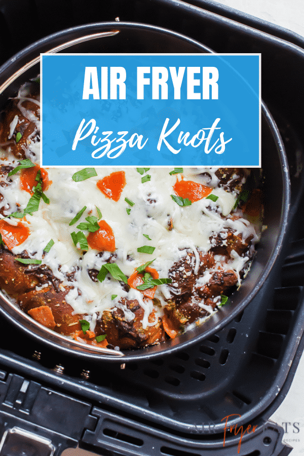 For a fun twist on pizza, try making Air Fryer Garlic Knot Pizza. Refrigerated biscuits are stuffed with pizza toppings and baked together with extra cheese for a kid friendly, crowd pleasing dish. #airfryerpiza via @vegetarianmamma