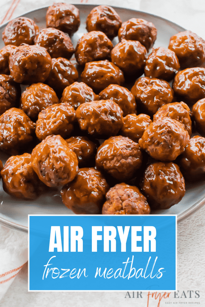 a plate of bbq meatballs on a counter.