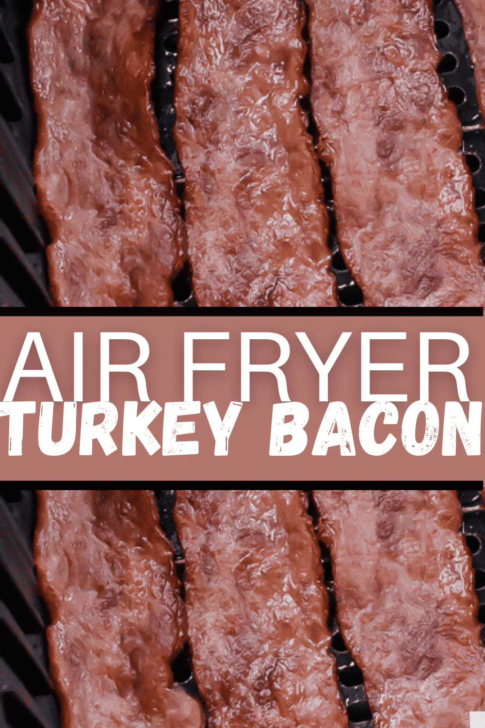Air fryer turkey bacon is so easy to make, you'll be amazed. Turkey bacon comes out crispy and perfect in your air fryer in less than 10 minutes. #breakfast #airfryerturkeybacon via @vegetarianmamma