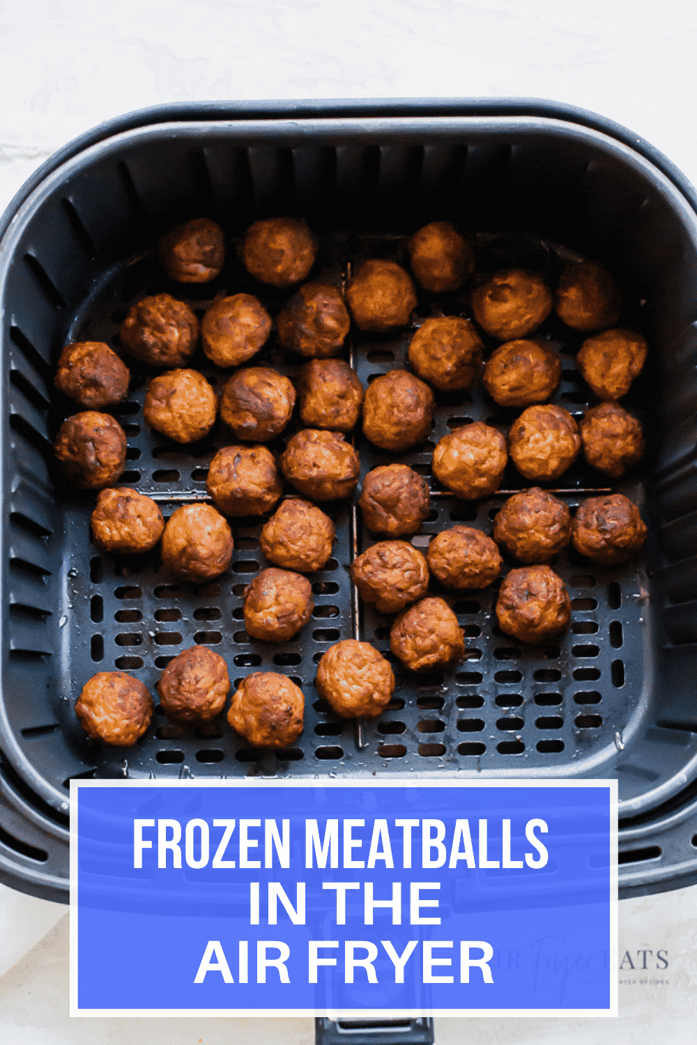 Are you ready for a simple and quick meatball appetizer made in the air fryer? Air Fryer Frozen Meatballs with BBQ glaze is the recipe you've been looking for. #airfryer #appetizers via @vegetarianmamma
